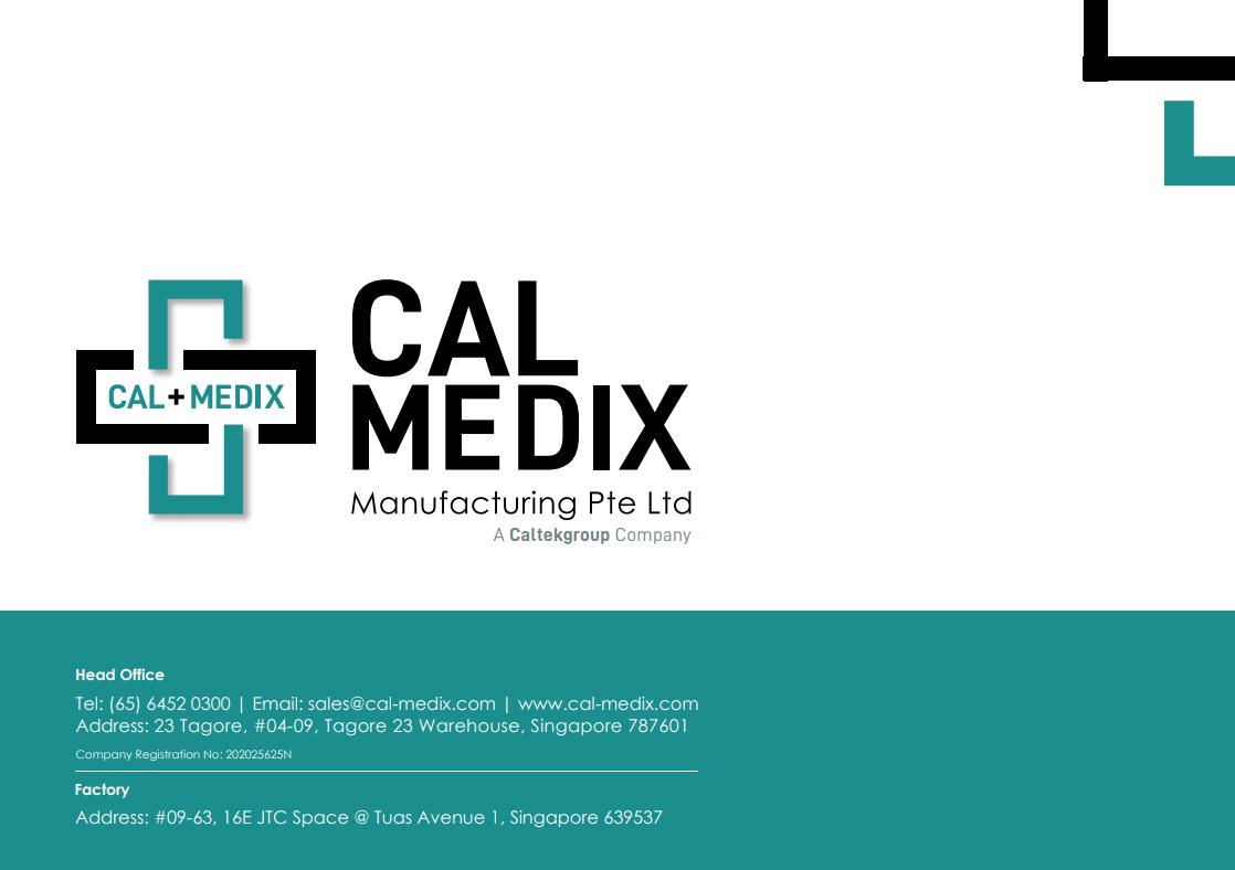 CalMedix Manufacturing Product Catalogue